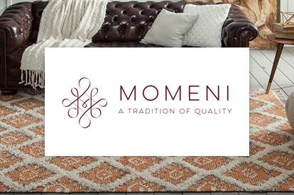 Momeni a tradition of quality logo | TUF Flooring LLC